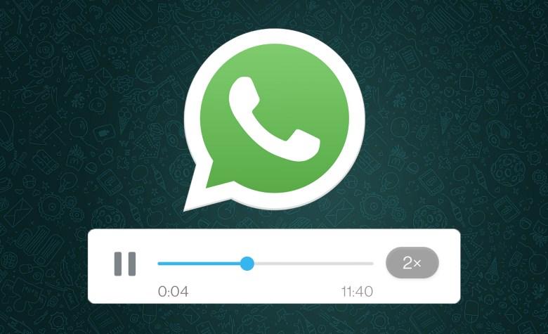 WhatsApp ora consente di velocizzare le note vocali