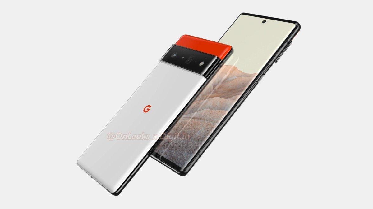 Rendering di Google Pixel 6 Pro HD di OnLeaks